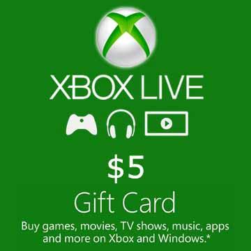 5 Dollars Xbox Live