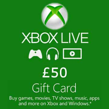 Acheter 50 GPB Gift Card Xbox Live Code Comparateur Prix