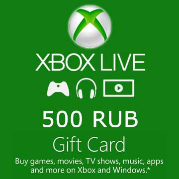 Acheter 500 RUB Gift Card Xbox Live Code Comparateur Prix