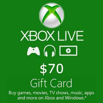 70 dollars Xbox Live