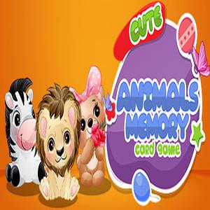 Cute Animals Memory Card Game