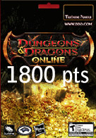 1800 Points Turbine Code Dungeons & Dragons Online EU