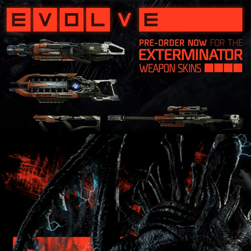 Telecharger Evolve Exterminator Weapon Skins Pack PS4 code Comparateur Prix