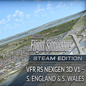 FSX Steam Edition VFR Real Scenery NexGen 3D Vol. 1 Southern England and South Wales Add-On