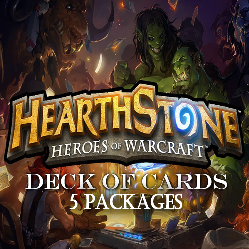Acheter Hearthstone Deck Of Cards pack 5 Gamecard Code Comparateur Prix