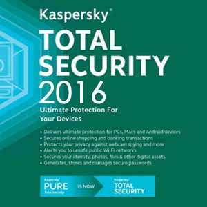 Acheter Kaspersky Total Security 2016 Clé Cd Comparateur Prix