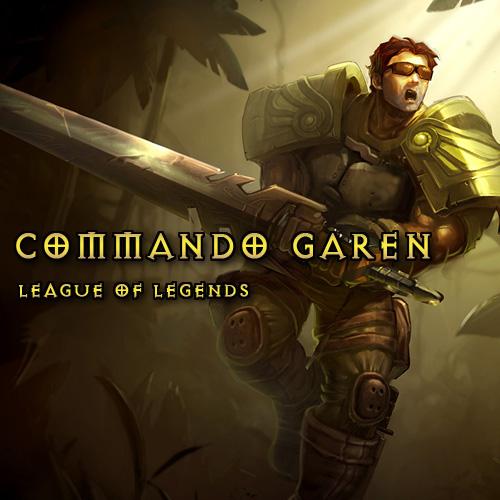 League Of Legends Skin Commando Garen LAN