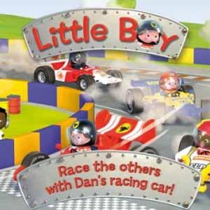 Little Boy Dans Racing Car