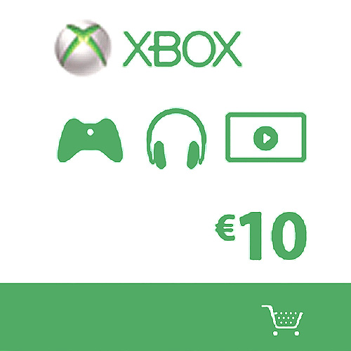 Carte 10 Euros cadeaux Xbox live de Microsoft