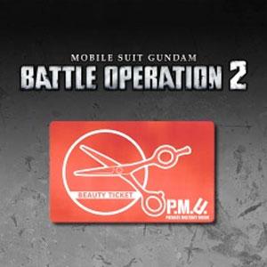 MOBILE SUIT GUNDAM BATTLE OPERATION 2 Beauty Ticket