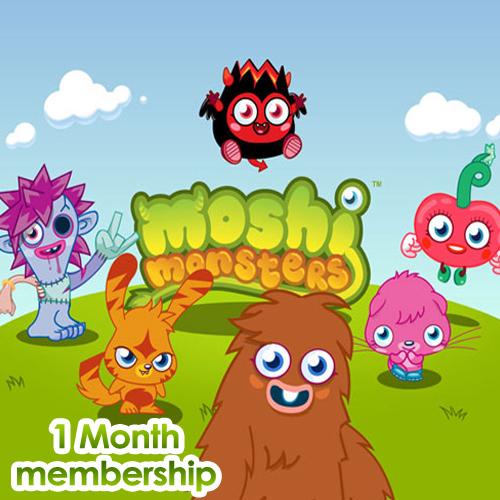 Moshi Monsters 1 Mois Memberships