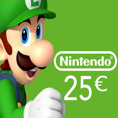 Acheter Nintendo eShop 25 Euro Carte à Points Comparateur Prix