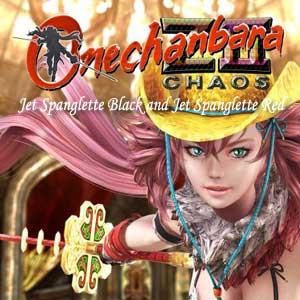 Onechanbara Z2 Chaos Jet Spanglette Black and Jet Spanglette Red