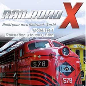 Acheter Railroad X Modelset 1 Railstation Houses Barn Clé Cd Comparateur Prix