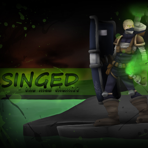 Riot Squad Singed League Of Legends Skin