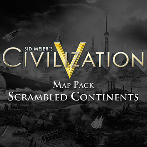 Sid Meier's Civilization 5 Scrambled Continents Map