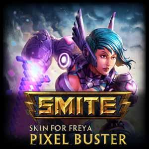 SMITE Freya and Pixel Buster Skin