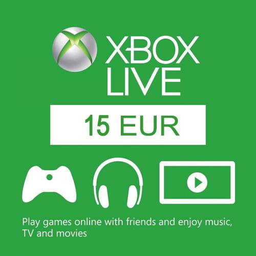Acheter 15 Euro Card EU Xbox Live Code Comparateur Prix