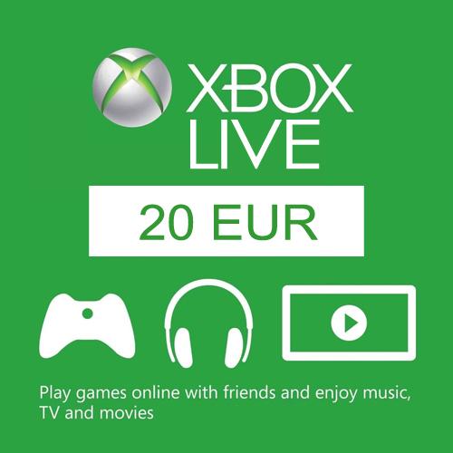 Acheter 20 Euro Card EU Xbox Live Code Comparateur Prix
