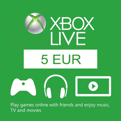 Acheter 5 Euro Card EU Xbox Live Code Comparateur Prix
