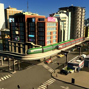 Cities Skylines Mass Transit Monorail dans la ville