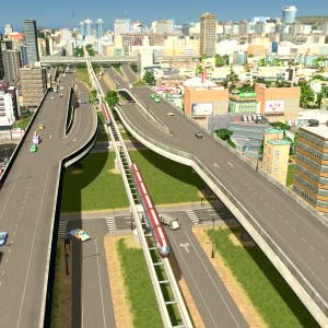 Cities Skylines Mass Transit Reliant les villes