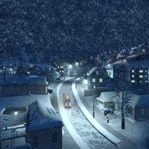 Cities Skylines Snowfall Neige