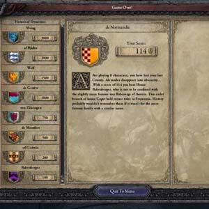 Crusader Kings 2 - Jeu terminé