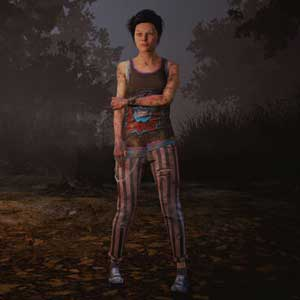 Dead By Daylight : Nea in Skull Print Top and Stripes of Power