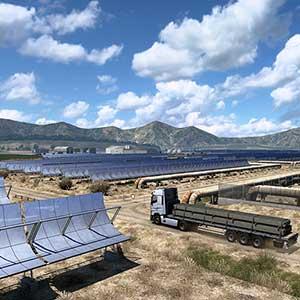 Euro Truck Simulator 2 Iberia Panneaux solaires