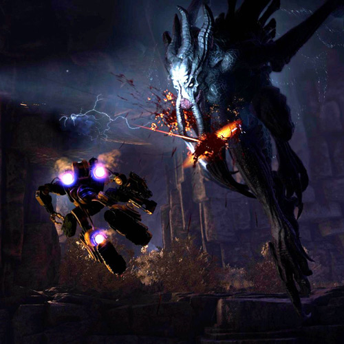 Evolve Xbox One Gameplay Combat Contre Kraken