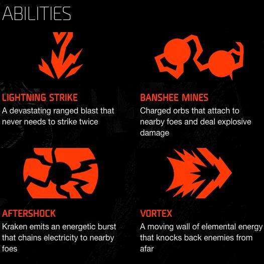 Kraken Capacités
