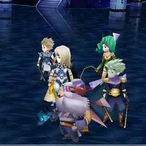 Final Fantasy Personnages se battre avec Enemy