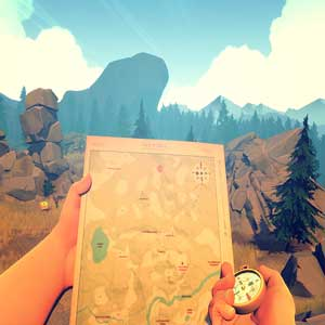 FireWatch PS4 Carte