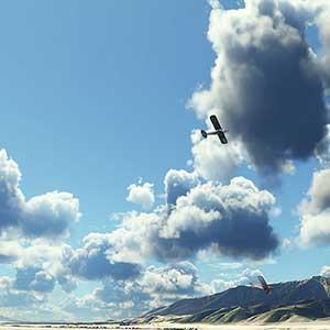 Ciel photoréaliste de Microsoft Flight Simulator