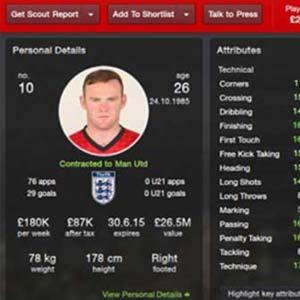 Football Manager 2014 - Profil du joueur