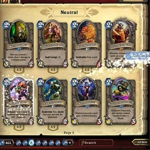 Hearthstone Heroes of Warcraft Deck of Cards Choisissez vos cartes