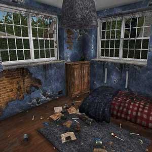 devastated houses
