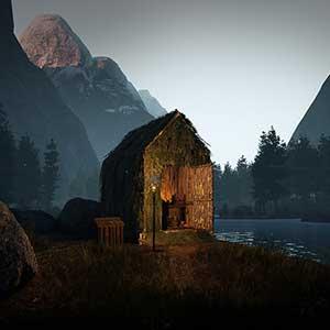 Icarus Cabane près d'un lac