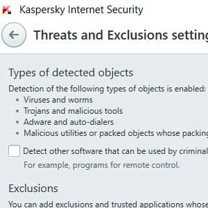 Kaspersky Anti Virus 2019 détection