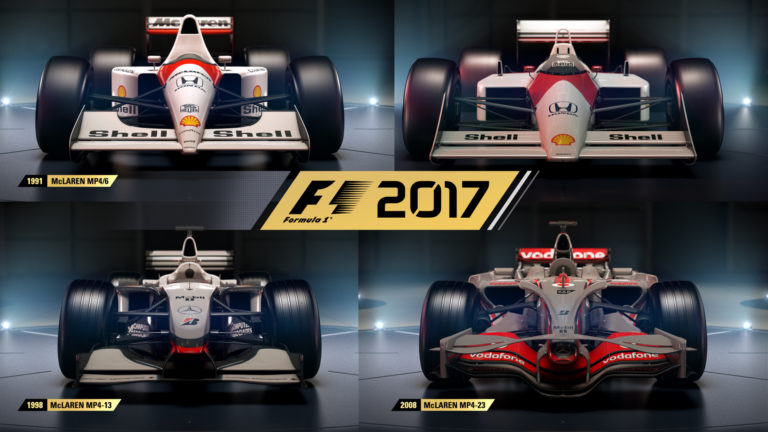la liste des voitures de l gende de f1 2017 est d sormais compl te avec l 39 ajout des mclarens. Black Bedroom Furniture Sets. Home Design Ideas