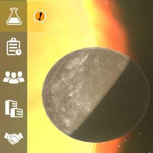 Mars Horizon Mercure et Vénus