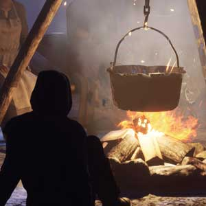 Repos du feu de camp de la Medieval Dynasty
