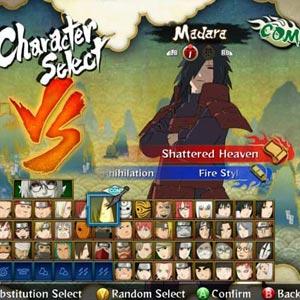 Naruto Shippuden 3 Caractère Sélectionnez