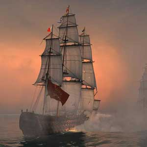 Naval Action Santisima Trinité en action