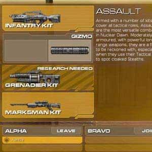 Nuclear Dawn Type d'unités