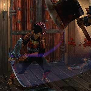 intense swordplay