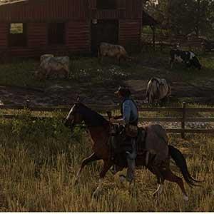 Red Dead Redemption 2 à cheval