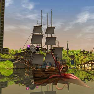 RollerCoaster Tycoon 3 Complete Edition Bateau pirate