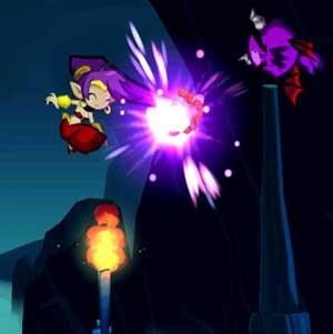 Shantae attaque Hair-Whip